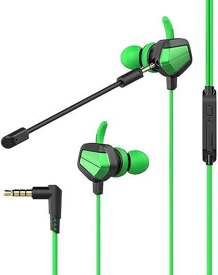 Volwco - Auriculares in-Ear con Cable para Juegos con Doble ...
