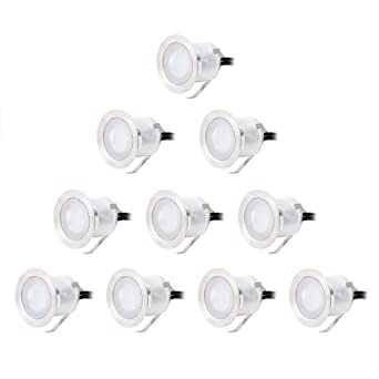 croled 10x lampe de spot encastrable led pour terrasse enterr plafonnier en aluminium 06 - Spot De Terrasse