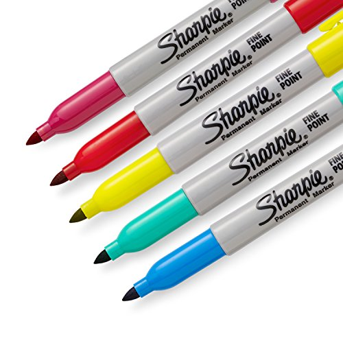 Sharpie Color Burst Permanent Markers, Fine Point, Assorted Colors, 24 Count