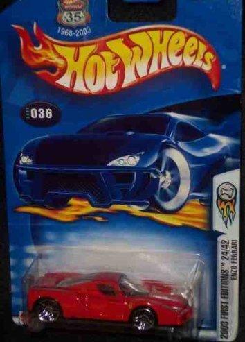 2003 First Editions -#24 Enzo Ferrari #2003-36 Mattel Hot Wheels 1:64 Scale Collectible Die Cast Car ()