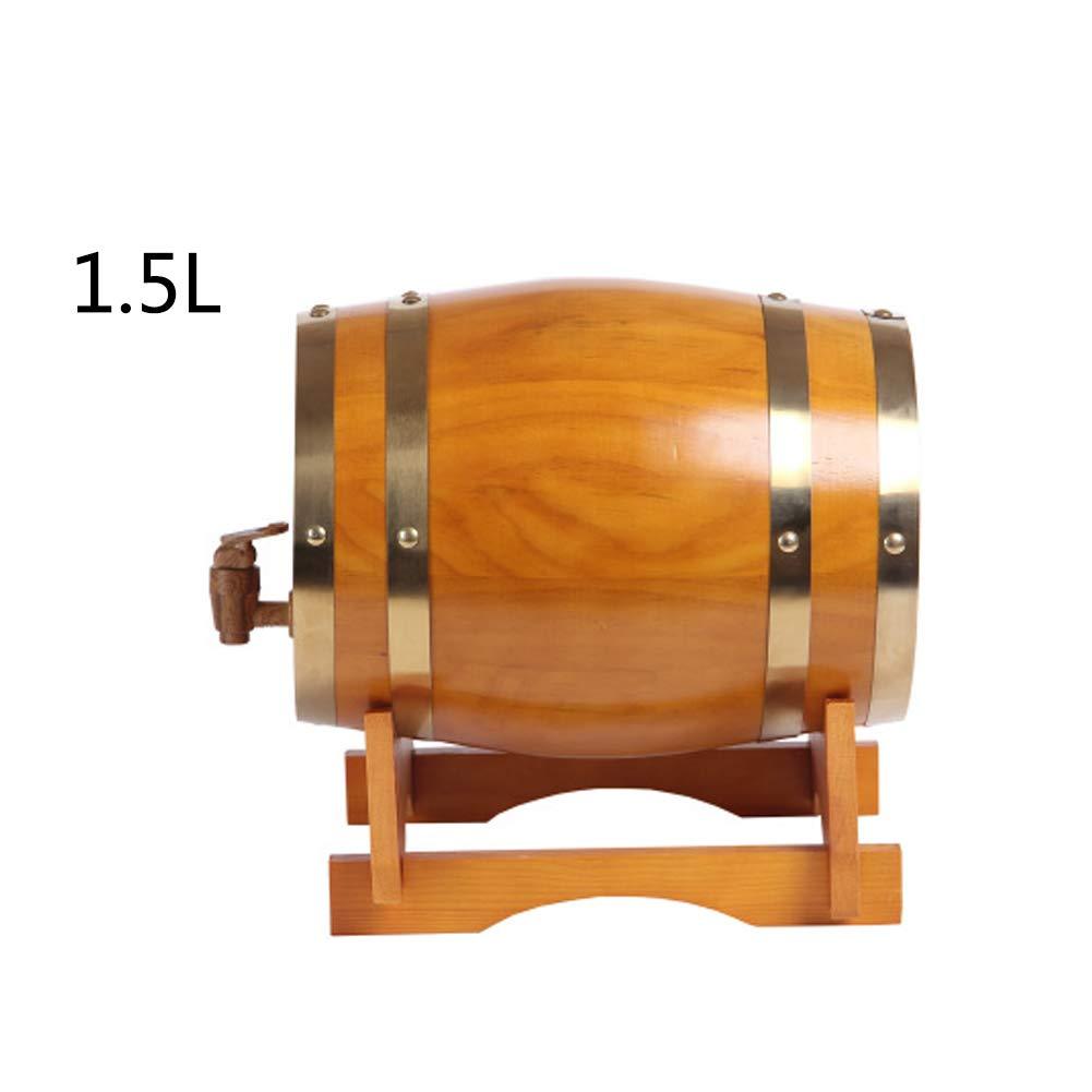FYHDJ14 Barril De Madera De Roble Barril De Vino 1.5L Vino Blanco Vino Tinto Barril Decoraci/ón del Hogar Barril De Vino Roble Barril De Vino De Madera S/ólida Barril De Vino Vino
