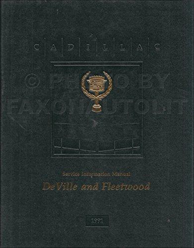 1991 Cadillac De Ville & Fleetwood Repair Shop Manual Original