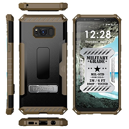 Galaxy S8 Plus Case Spots8 Dual Layer Hybrid Armor Rugged