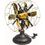 Global Art World Antique Pedestral Marelli Partners Electric Fan With Working Mechanism HB 086