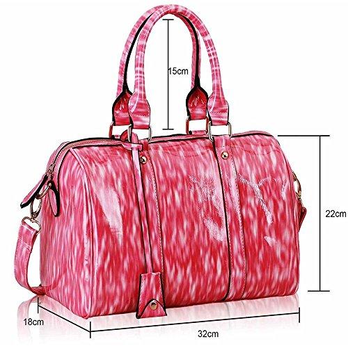 TrendStar - Bolso bandolera Mujer Pink Barrel Handbag