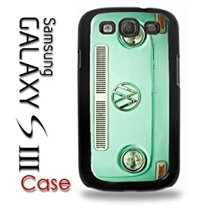 Samsung Galaxy S3 Plastic Case - VW Bus Baby Blue Front of Volkswagen Panel Surf Bus