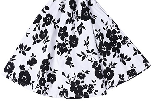 Women's Long Casual Yeslife V Sleeve Floral 01 Pockets Neck Dress Floral Print Swing tzdqnqwWx