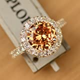 New Fashion Morganite Ring 925 Sterling Silver Engagement Ring Size 6-10# J115 (7)