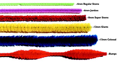 Chenille Kraft AC7120-01DI Giant Stem Wire Pipe Cleaner, 12 mm x 12