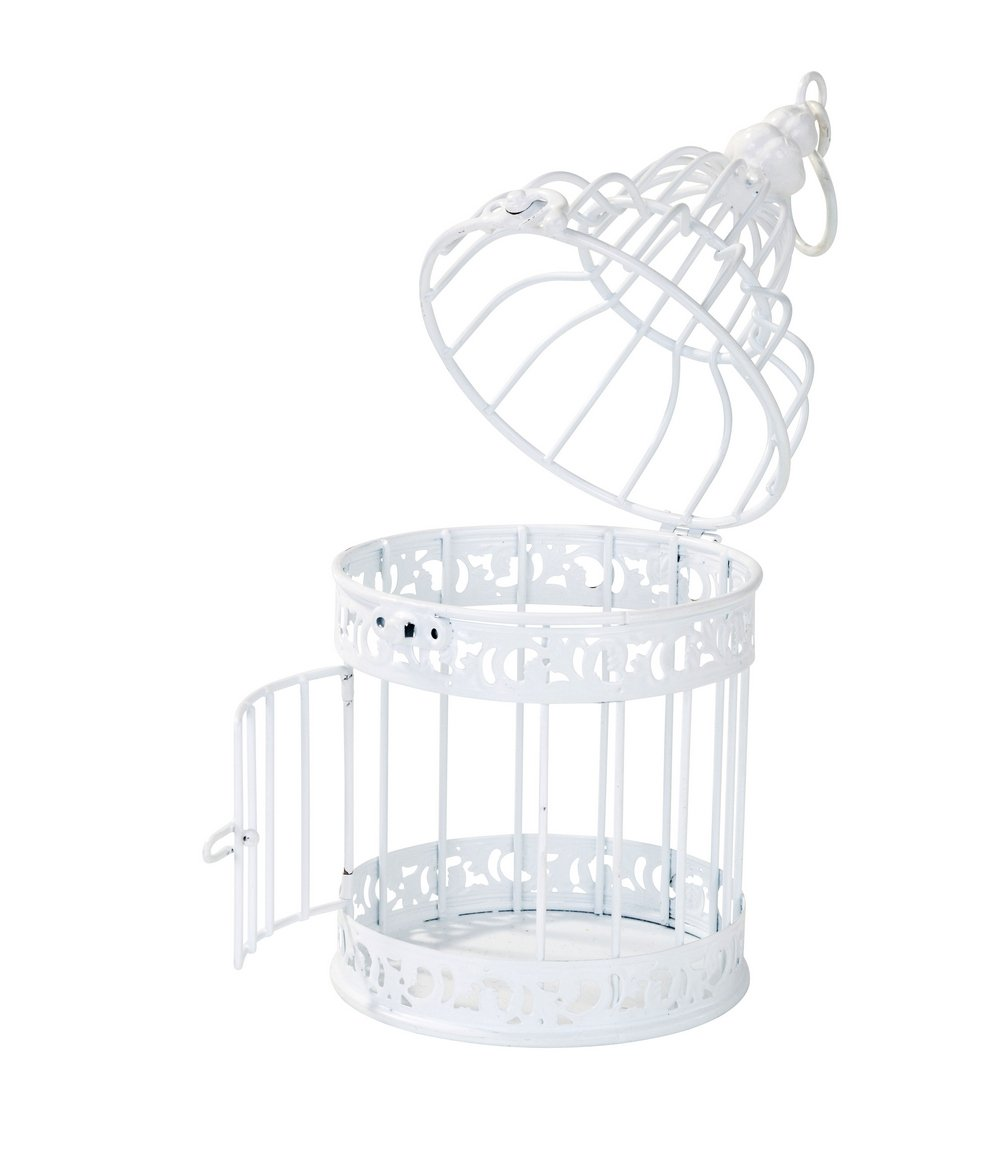Amazon.com: Talking Tables Be Happy White Birdcage Wedding Table ...