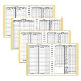 Dome 612Mensual bookkeeping registro con tapa caf y de 128pginas, 11x 812inches Wirebound 2paquetes, Beige