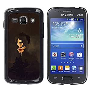 Ihec Tech Pintura del arte del retrato de caras Reflexión / Funda Case back Cover guard / for Samsung Galaxy Ace 3
