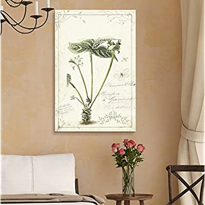 Gorgeous Creative Design, Original Creation, Vintage Style Plant with Butterfly