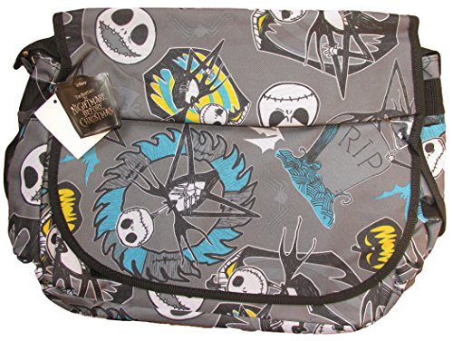 Disney Nightmare Before Christmas Jack Skellington Messenger Bag (Gray)