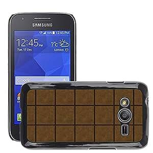 Etui Housse Coque de Protection Cover Rigide pour // M00152392 Textura de Brown Gum Antecedentes // Samsung Galaxy Ace4 / Galaxy Ace 4 LTE / SM-G313F