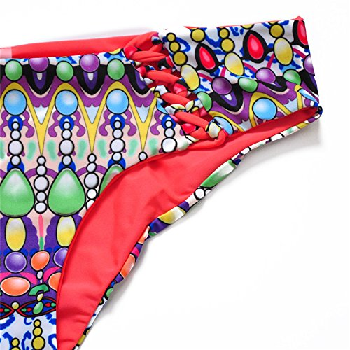 YONGYI bikini atractivo Sra playa de la manera del verano 2017 de Europa y América retro señoras de la impresión atractiva del bikini traje de baño caliente viento vuelta atravesó la India
