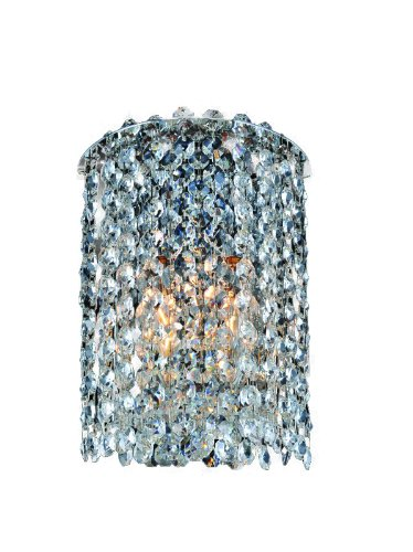 - Allegri Lighting 11660-010-FR001 Millieu-Metro 1-Light Wall Sconce with Clear Firenze Crystal, Chrome Finish
