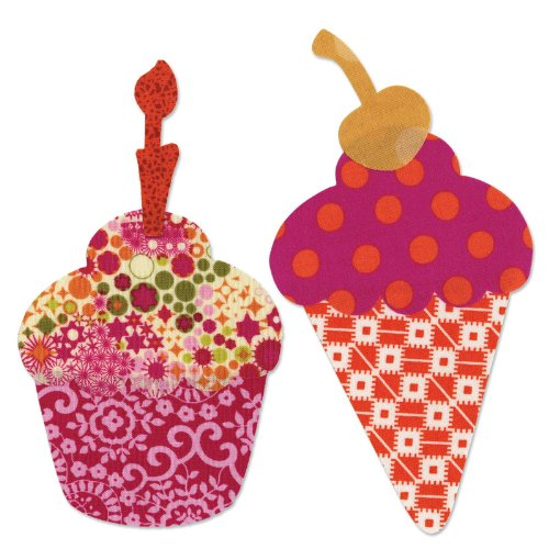Sizzix Bigz L Die - Cupcake or Ice Cream Cone w/Cherry & Candle