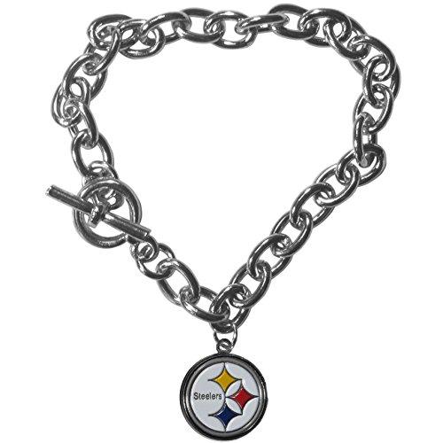 Nfl Charm Bracelet (NFL Pittsburgh Steelers Charm Chain Bracelets)