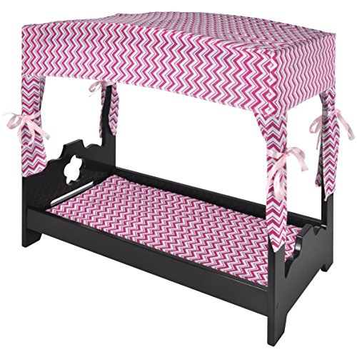 Naomi Kids Canopy Doll Bed Espresso (Kid Canopy Bed compare prices)