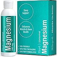 Liquid Magnesium Oil Bis-Glycinate Supplement Liposomal Magnesium Citrate Liquid for Heart Health, Nervous Sys