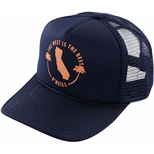 Mesh Screen Print Cap (O'Neill Women's Haven Screen Print Trucker Hat, Eclipse/Dark Navy, One Size)