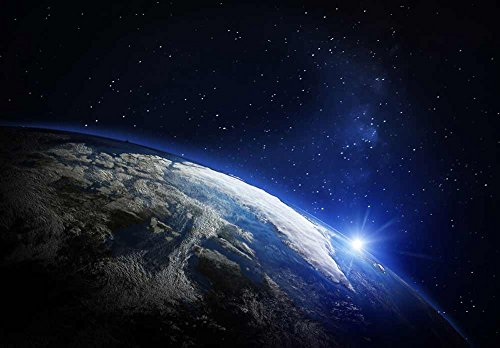 Planet Earth in Rotation with a Bright Light Wall Mural