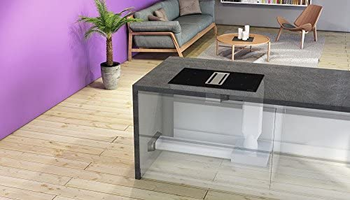 Silverline FLIK 854 ES Flow-In Premium Table de cuisson à induction avec grille de cuisson, hotte aspirante, hotte de table, 78 cm, A