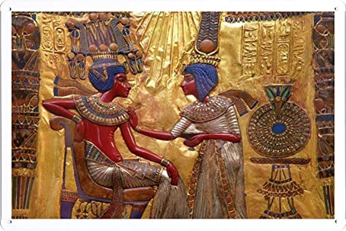 World HOPE Art WHA16324 Egyptian Tin Sign Unique Wall Decor Metal Poster Wall Plaque