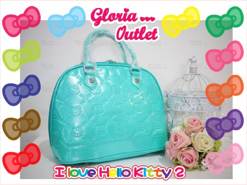 Hello Kitty Teal Ceramic Embossed Bag Loungefly ()