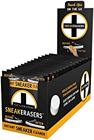 SneakERASERS Instant Sole and Sneaker Cleaner, Premium Pre-Moistened Dual-Sided Sponge for Cleaning & Whit