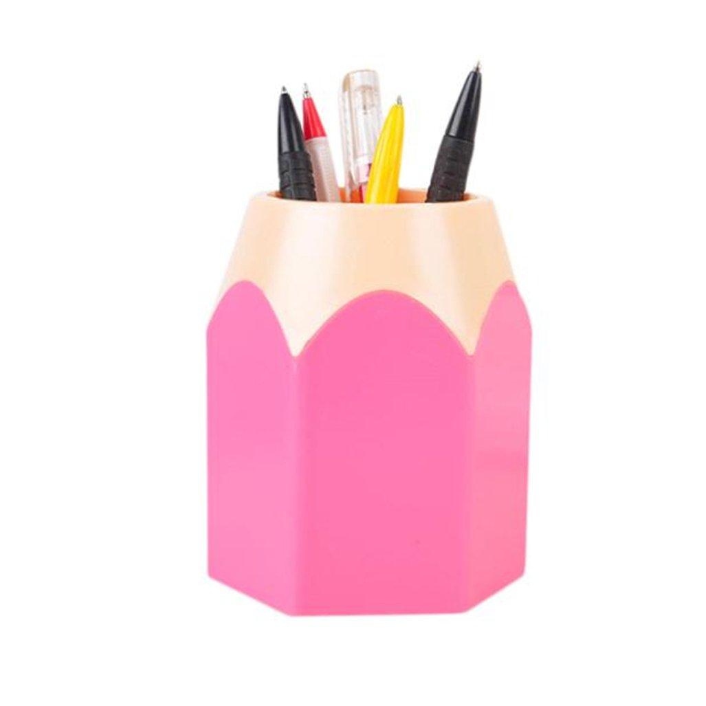 Gotd Pencil Holder Creative Pencil Tip Design Pen Holder Cup Container Organizer (Pink)