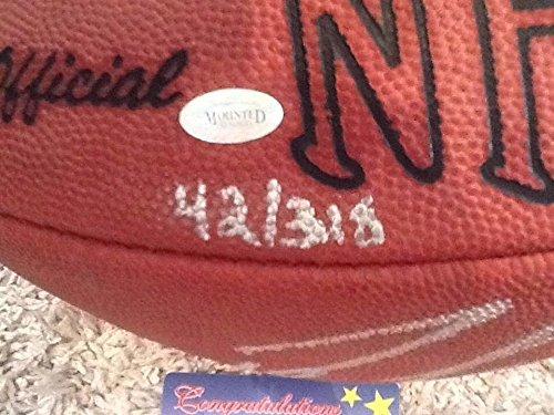 Dan Marino Signed Football (Peyton Manning And Dan Marino Auto Autographed Signed Football Mounted Memories L/E #42/318)