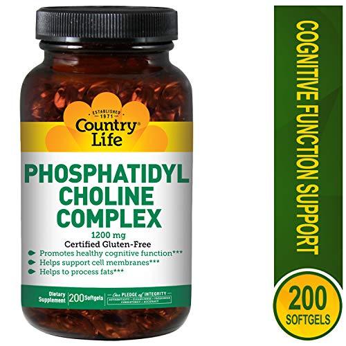 Country Life Phosphatidyl Choline Complex, 1200 mg, ()