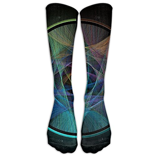 Pi Colorful Pattern Long Dress Socks Football Sports Socks Casual Over-the-Calf Tube
