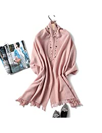 YUANZ Home Scarf Female Spring and Autumn Winter Long Section Thick Warm Shawl Dual-use Fashion Scarf (Color : Pink, Size : 200cm)