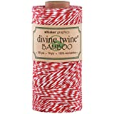 Divine Twine Eco-Bamboo, Red/White