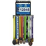 Wall Mounted Medal Hanger| Medal Rack for Runners, Gymnastics, Soccer, Wrestling, Athletics | Unique Race Bib Holder and Medal Display Frame