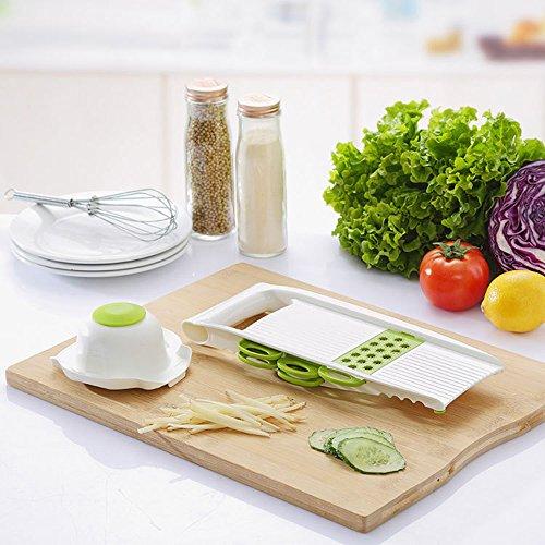 HONGJING ABS Adjustable Kitchen Slicer Vegetable Fruit Cutter Multi Function Slicer Fruit Vegetable Kitchen Tools Shredder