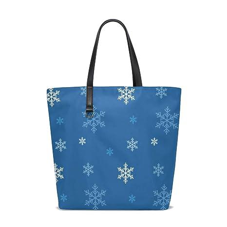 Amazon.com   Snowflakes Funny Tote Bag Purse Handbag Womens ...
