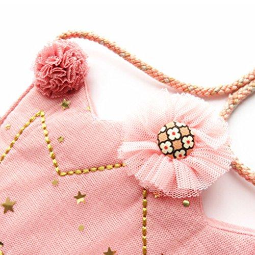 Tinksky Corona a forma di Crossbody Moda Bag Sacchetto Fiori Borsa Natale regalo di compleanno per Bambini Ragazze Donne (rosa)