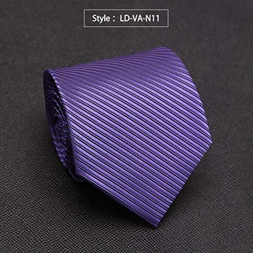 LFLJIE Mens Tie Stripe Solid Corbatas de Moda para Hombres Traje ...