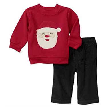 77fec100448af Carter's Infant Boys Santa Claus Outfit Christmas Sweatshirt & Pants Set
