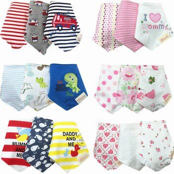 Amazon.com : Baby Bibs 100% Cotton Baberos Bandana Carters Skip Zoo Bandanas 3pcs/lot Baberos Boy Girls Cravat Infant Towels Bavoir Babero K7 : Baby