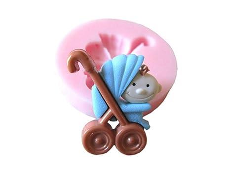 Molde de la galleta DIY Carro de bebé moldes para Hornear Herramientas de decoración de Pasteles