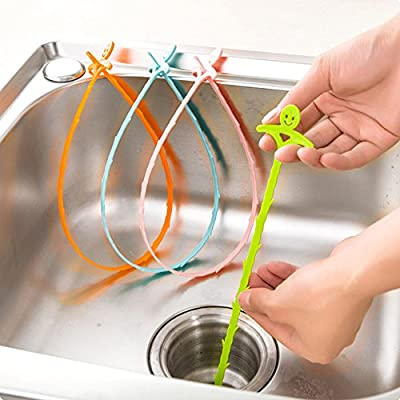 Joyfor Manual Drain Cleaner, Hair Drain Clog Remover-Drain Hook, Slow Drain Cleaner Snake,auger type cleaning tool. Quick and easy drain unclogger(Pack of 4).
