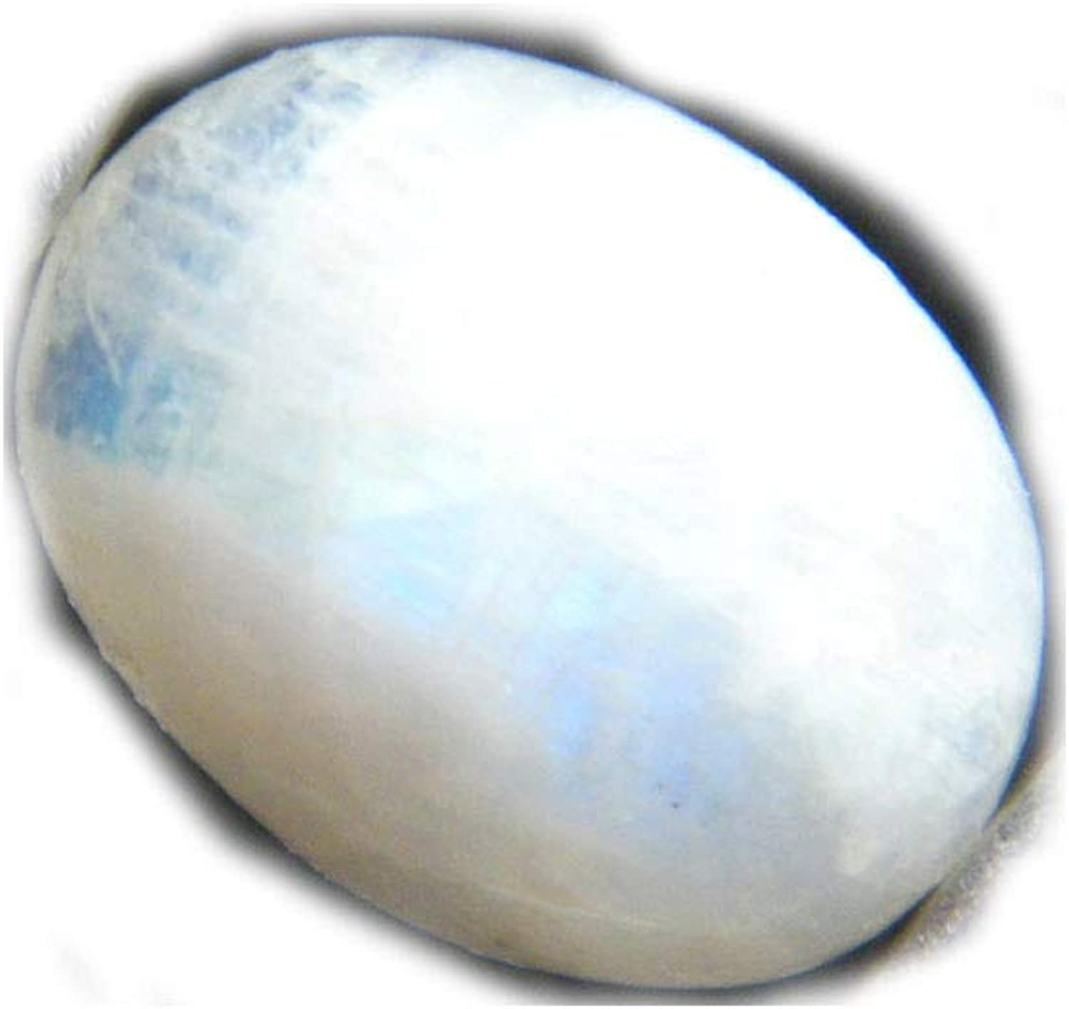 Oval  Shape Cut Stone Size Rainbow Moonstone weight 10.70 crt Good Quality 12x15 mm Faceted Both Side