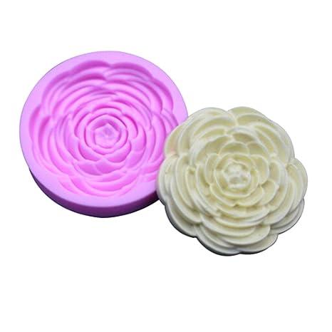 Cianowegy - Moldes de silicona para tartas con forma de flores, moldes de jabón hechos