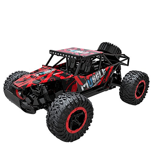 Price comparison product image Outsta Radio Remote Control Car,  1:16 Scale Car, Multiplecolor 2.4GHz High Speed RC Racing Car 4WD Remote Control Truck Off-Road Buggy Toys Truck Vehicle Electric Cars Gift for Boys (Red)