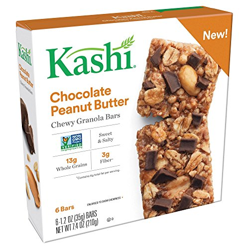 Kashi Chocolate Peanut Butter Chewy Granola Bars 1.2ozx6 ars, total 7.4oz, pack of 1 (Kashi Peanut Butter)